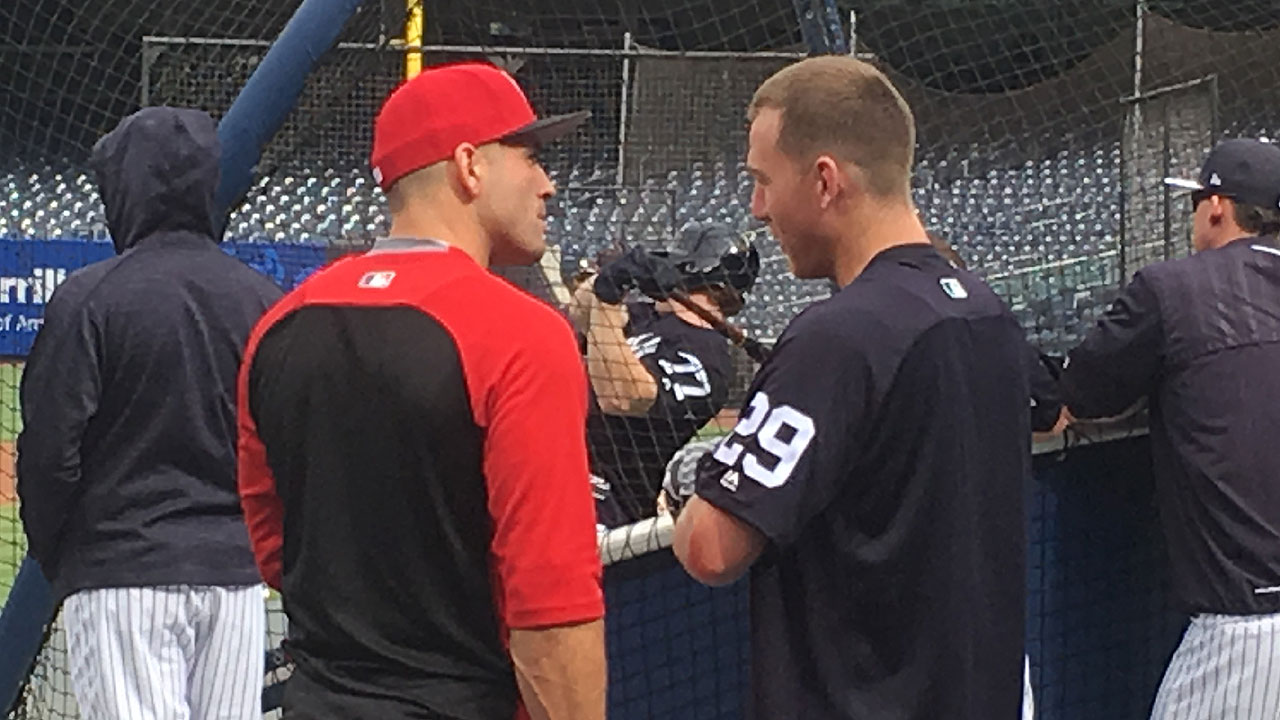 Frazier comes home for 1st game in pinstripes